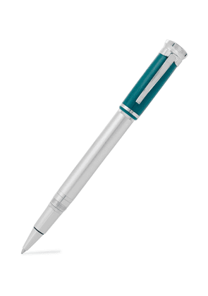 DUNHILL - Palladium-Plated and Resin Rollerball Pen - Men - Silver