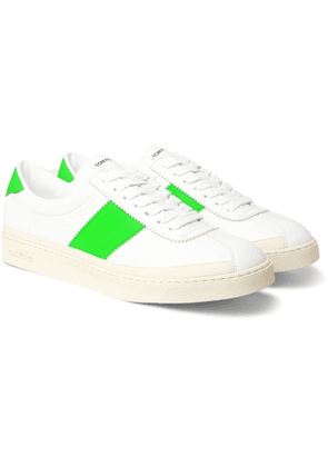 TOM FORD - Bannister Panelled Faux Leather Sneakers - Men - White