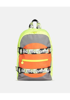 Stella McCartney Kids GREY Logo Sport Backpack, Unisex, Size OneSize