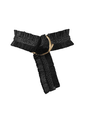 Johanna Ortiz - Women's Sueños Antiguos Ruched Belt - Black - Only At Moda Operandi