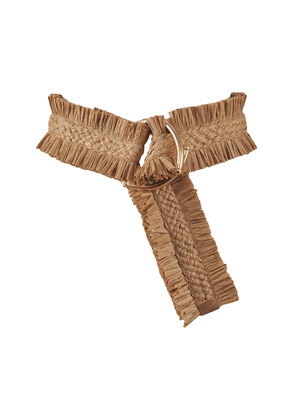 Johanna Ortiz - Women's Sueños Antiguos Ruched Belt - Brown - Only At Moda Operandi