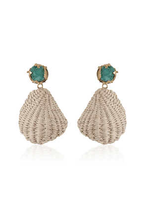 Johanna Ortiz Emerald Natural Historia Latina Earrings