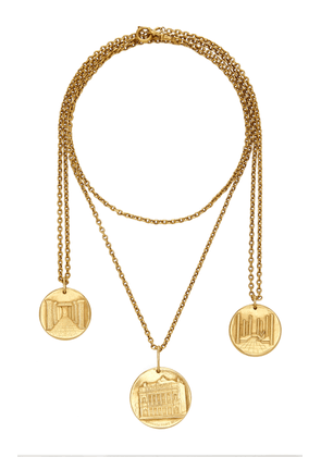 Briony Raymond - Women's One of a Kind Van Cleef & Arpels 18K Yellow Gold Medallions on Two Gold Chains - Gold - Only At Moda Operandi - Gifts For Her