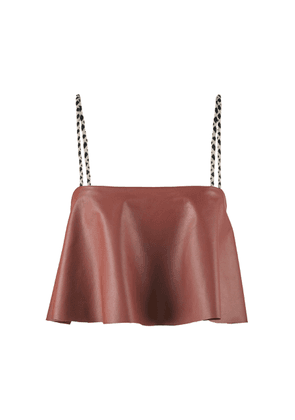 Johanna Ortiz Ponderosa Leather Top