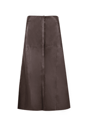 Johanna Ortiz Palomino Leather Skirt