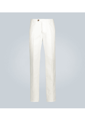 Relaxed-fit cotton-twill pants
