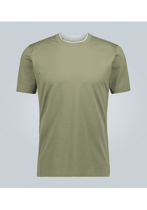 Slim-fit double-collar T-shirt