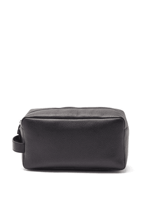 Pineider - Grained-leather Wash Bag - Mens - Black