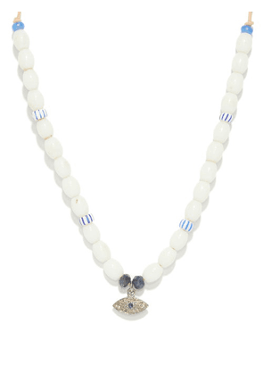 Musa By Bobbie - Diamond, Sapphire & Glass Necklace - Womens - White