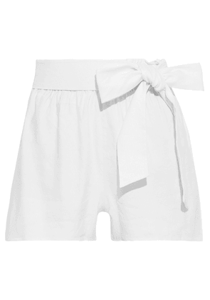 Alice + Olivia Linn Belted Linen-blend Shorts Woman White Size XS