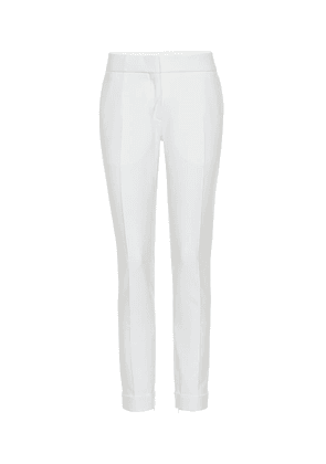 Stretch-wool slim pants
