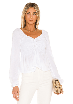 Bobi Light Weight Jersey Top in White. Size M, S, XS.