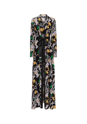 Bonnie floral silk maxi dress