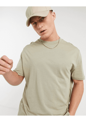 ASOS DESIGN organic relaxed fit t-shirt in beige