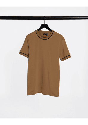 ASOS DESIGN smart muscle fit t-shirt with piping detail in-Multi