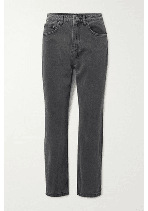 Ksubi - Chlo Wasted Cropped High-rise Straight-leg Jeans - Anthracite