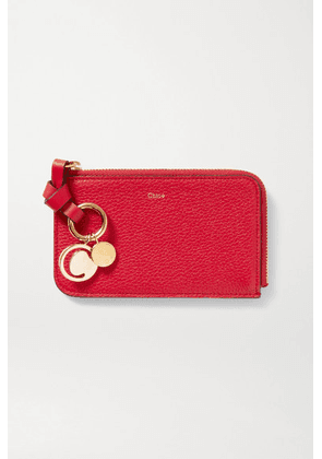 Chloé - Alphabet Textured-leather Wallet