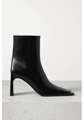 Balenciaga - Leather Ankle Boots - Black