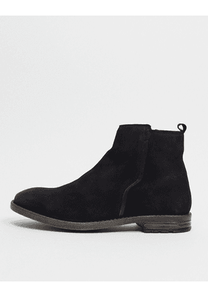 Dune formal chelsea boots in black leather