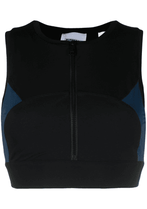 Burberry zipped panelled sports top - Black