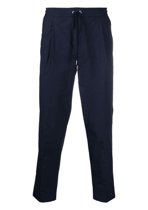 Moncler cropped tailored trousers - Blue