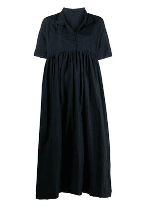 Daniela Gregis short-sleeve flared midi dress - Blue