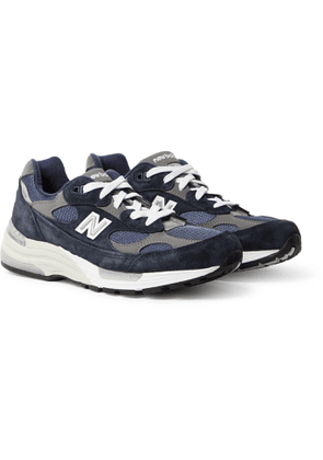NEW BALANCE - M992 Suede, Nubuck and Mesh Sneakers - Men - Blue