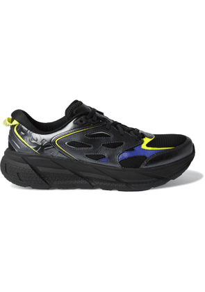 Hoka One One - Opening Ceremony BM Clifton Leather-Trimmed Mesh Sneakers - Men - Black