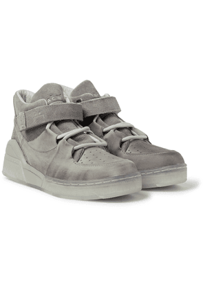 CONVERSE - A-COLD-WALL* Leather and Suede High-Top Sneakers - Men - Gray