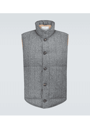 Wool and cashmere-blend gilet
