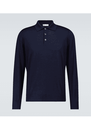 Wool and cashmere polo shirt