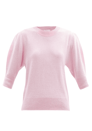 Allude - Puffed-sleeve Cashmere Sweater - Womens - Pink