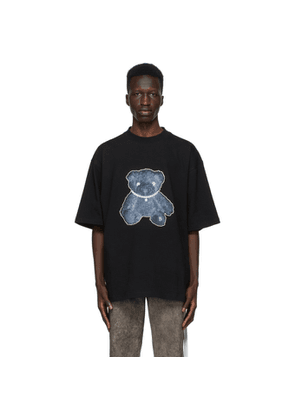 We11done Black Pearl Necklace Teddy T-Shirt