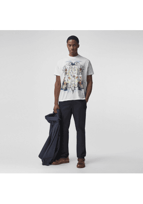Burberry Slim Fit Cotton Chinos, Blue