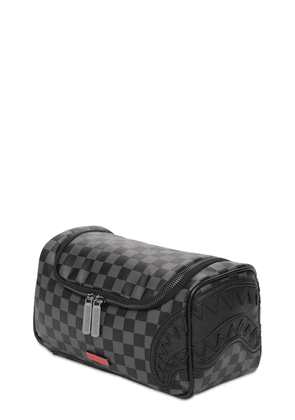 Henny Black Checkered Toiletry Bag