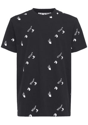 Ow Allover Print Slim Jersey T-shirt