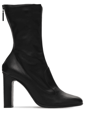 90mm Adela Leather Ankle Boots