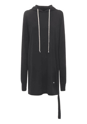Oversized Cotton Hoodie Pullover Dress