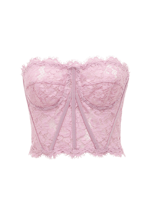Lace Sheer Bustier Crop Top