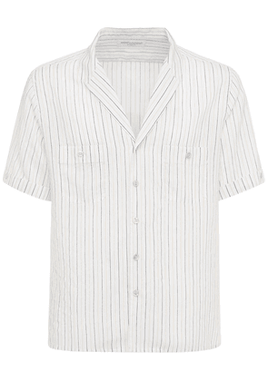 Striped Viscose & Silk Shirt