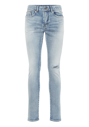 15cm Skinny Low Waist Cotton Denim Jeans