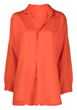 Daniela Gregis high-low hem shirt - Orange