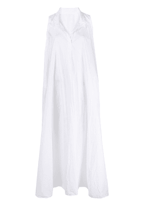 Daniela Gregis sleeveless flared maxi dress - White