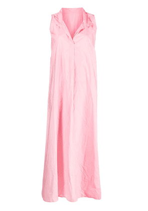 Daniela Gregis sleeveless flared maxi dress - Pink