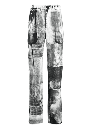 Alexander McQueen X-ray print tailored trousers - White