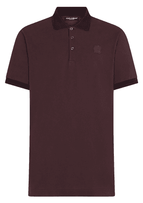 Dolce & Gabbana DG patch polo shirt - Red