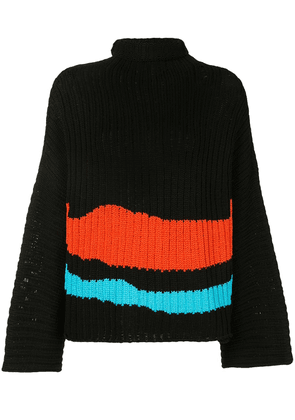 Eckhaus Latta Horizon horizontal-stripe jumper - Black