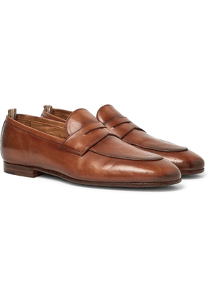 OFFICINE CREATIVE - Byron Leather Penny Loafers - Men - Brown
