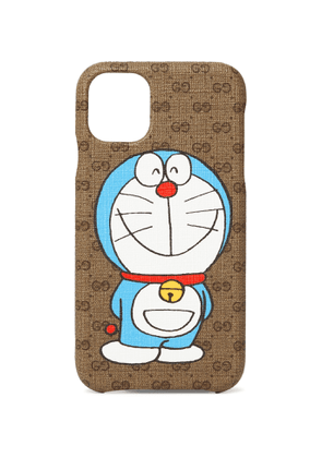 GUCCI - Doraemon Printed Monogrammed Coated-Canvas iPhone 11 Case - Men - Brown