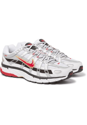 NIKE - P-6000 CNPT Leather, Mesh and Rubber Sneakers - Men - White